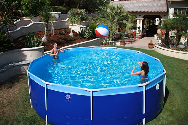 Summer breeze splash a round pools for Plastik pool rund